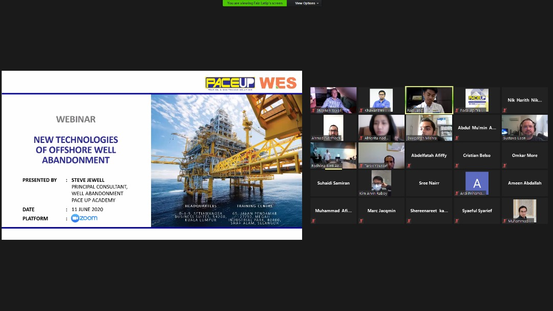 Group Photo - Webinar - New Technologies of Offshore Well Abandonment
